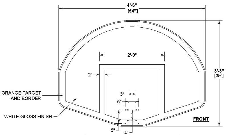 basketball hoop dimensions